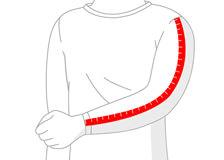rankovės ilgio matavimas vyrui